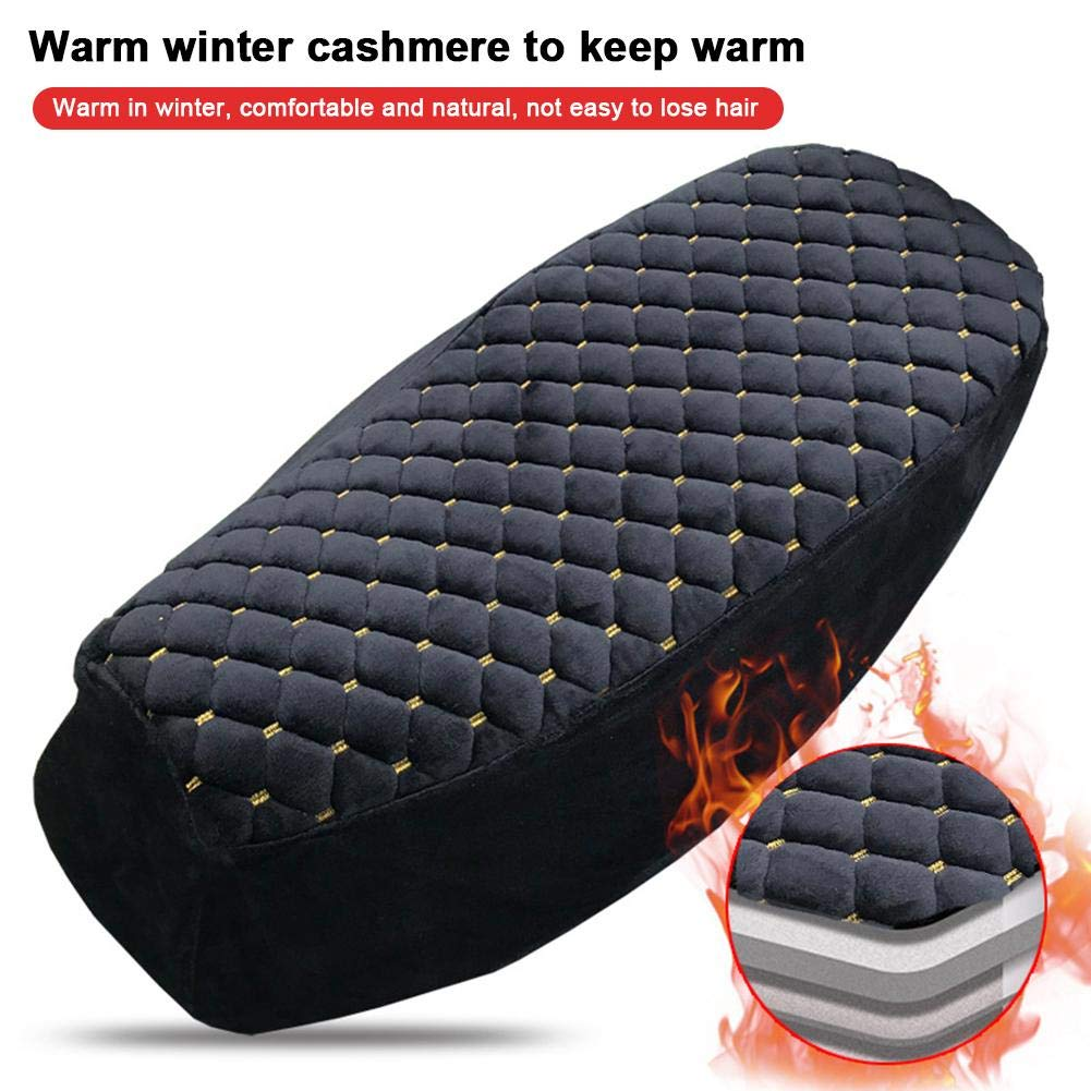 Kapokilly Scooter Seat Cover,Motorcycle Seat Cover Plush Warm-keeping Soft Seat Protector Motorcycle Scooter Moped Seat Cover Cap Motorcycle Seat Cover For Electric Scooter Black,Three Sizes