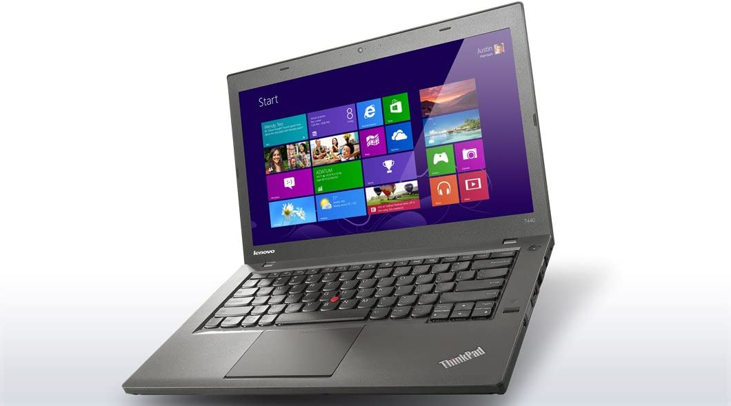 "Lenovo ThinkPad T440 Ultrabook 20B7000PUS (14"" i5-4300U 1.9GHz, 4GB RAM, 128GB SSD, Fingerprint Reader,720p Camera Windows 8 Pro 64-bit)"
