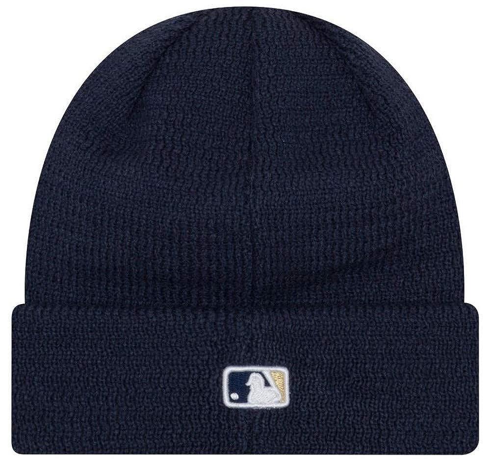 903a8129dcc6a Amazon.com  New Era MLB Milwaukee Brewers Sport Stocking Knit Hat Beanie  Cuff Skull Cap Navy  Clothing