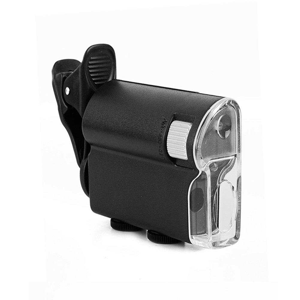 Miaozaigou 60-100 identificación de la la la joyería lupa 7751W microscopio de mano con luz para comprobar la alta definición de billete de banco 453927