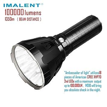 Imalent 100 Lampe Lumens Puissante 000 De La Récente Ms18 Poche Plus 1cTlK3JF