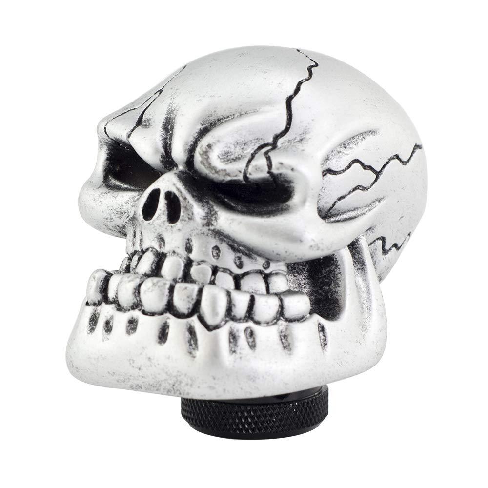 Mavota Silver Skull Manual Automatic Gear Shift Knobs by Mavota
