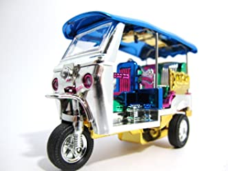 Thai Tuk-tuk Beautiful Car Model Multi-color Souvenir Gift From Thailand with Golden