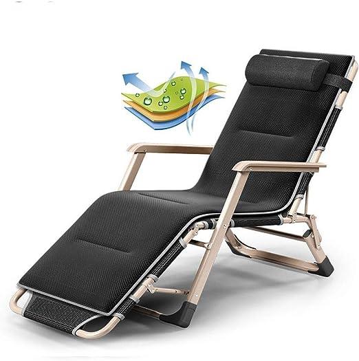 Mueble de jardín / Silla plegable reclinable de gravedad cero Sillón de oficina Sillón reclinable al aire libre, reclinable, ajustable, adecuado for parques y jardines Silla de camping liviana (Color: Amazon.es: Jardín