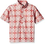 Reyn Spooner Boys' Big Christmas Quilt Pullover Shirt, Christmas Quilt - Red, S