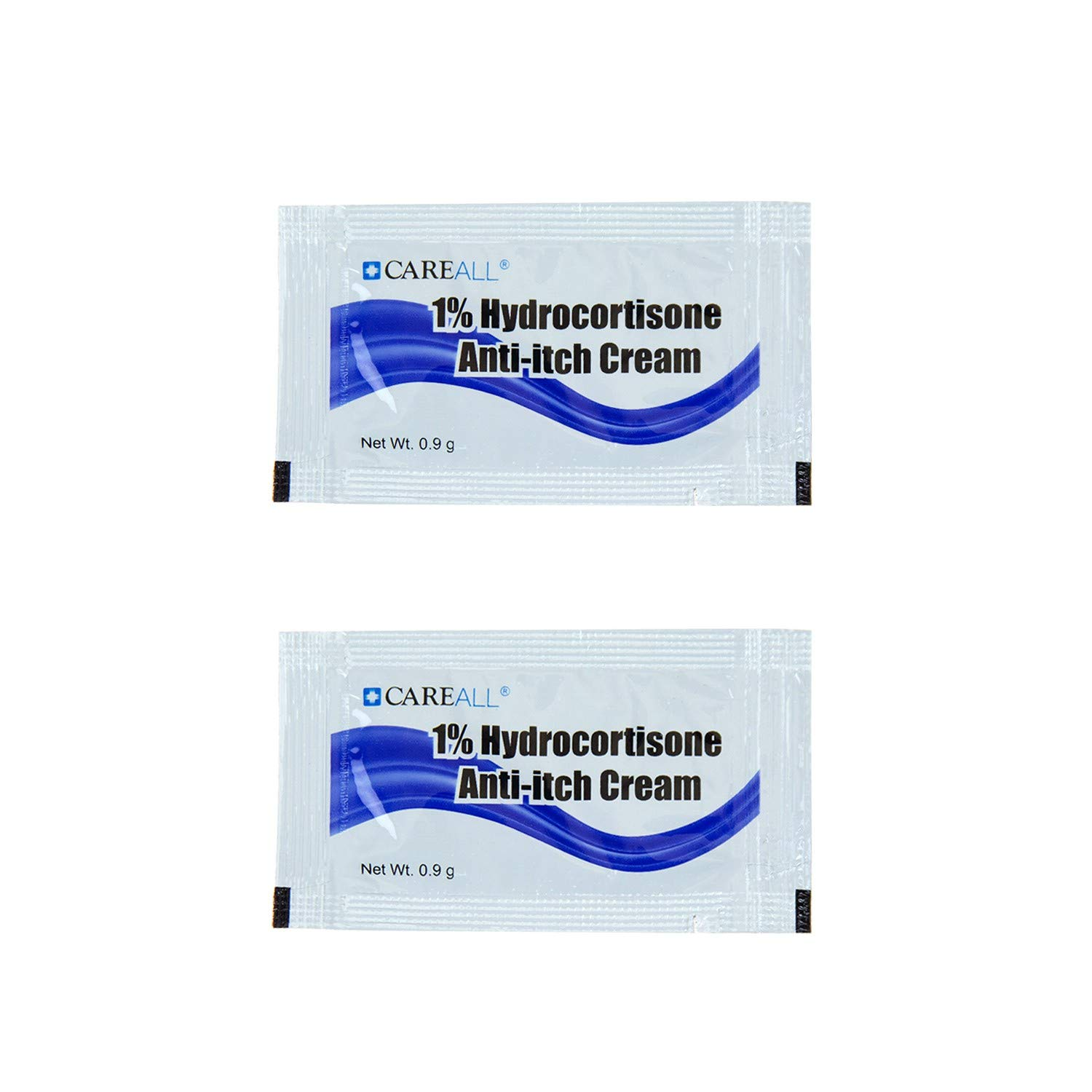 1728 Packets - Wholesale .9g Hydrocortisone Cream Packet - Bulk Case Travel Size Hygiene Toiletries by Care All