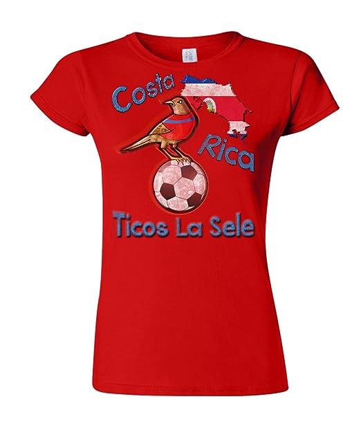 Costa Rica Football Mascot Ladies Camiseta Para Mujer World Cup T-Shirt