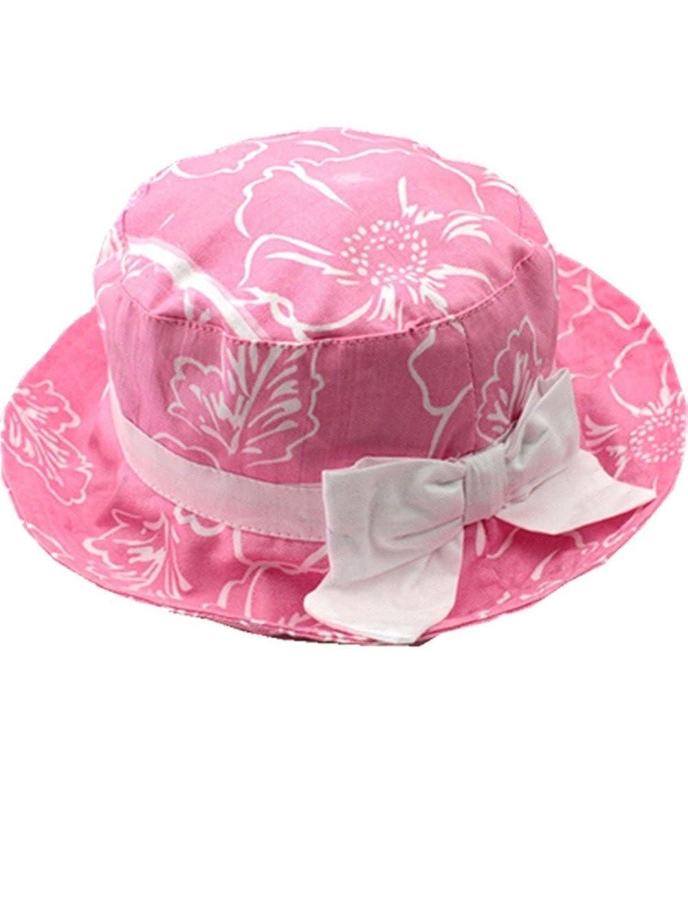 Motivo floreale Cappello da pescatore baby Cappello da sole per bambini Ragazzi neonati Cappello di pescatore Secchio Cappello Del Sole Protezione UV Protezione estiva