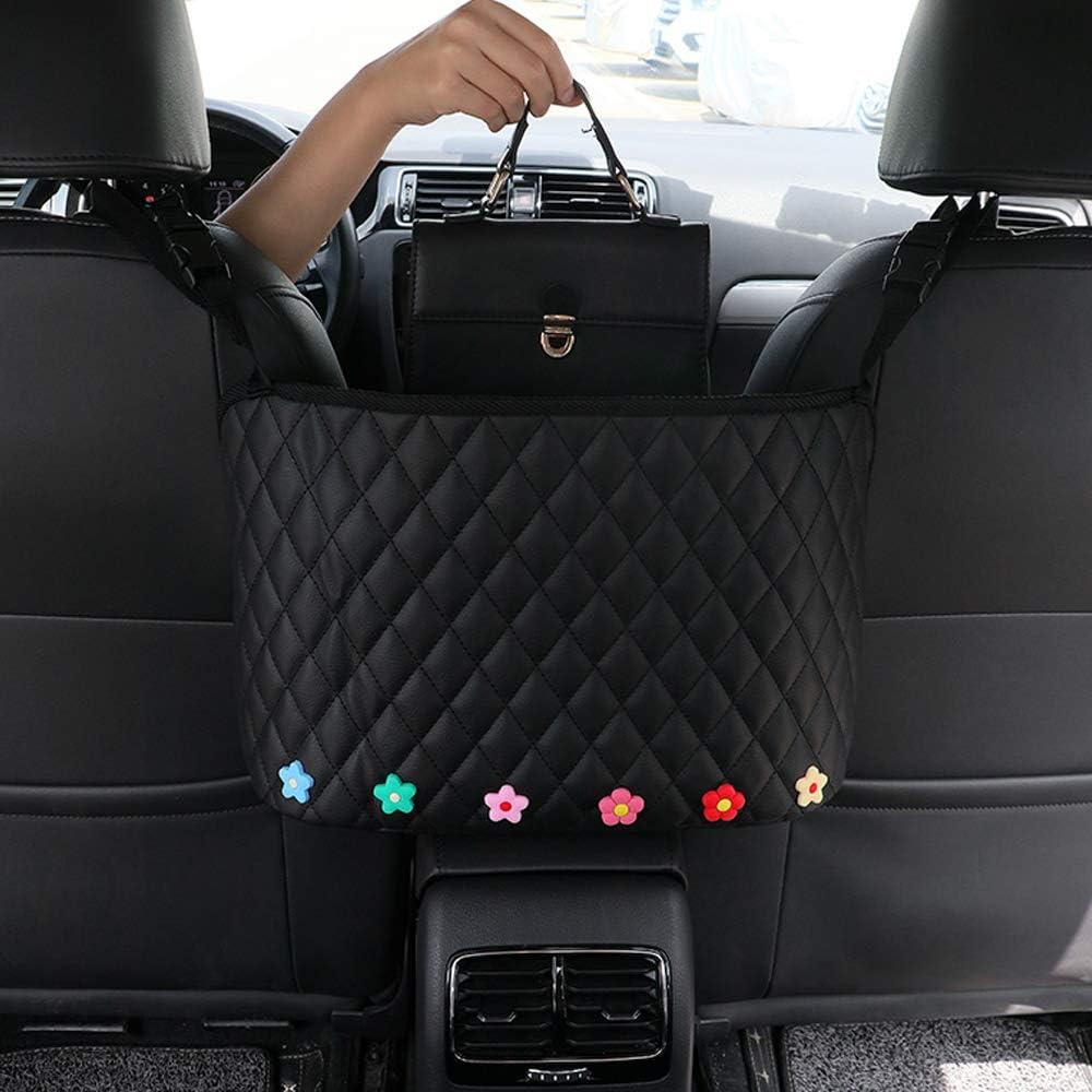 BXKM Car Net Pocket Handbag Holder,Car Backseat Organizer,Car Mesh Organizer,Handbag Holder for Car,Seat Back Net Bag,Driver Storage Netting Pouch,Car Storage for Purse Phone Documents