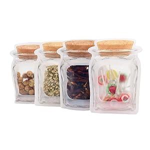 100 pcs Mason Jar Zipper Bags,Reusable Large Food Storage Sandwich Bags,5.5