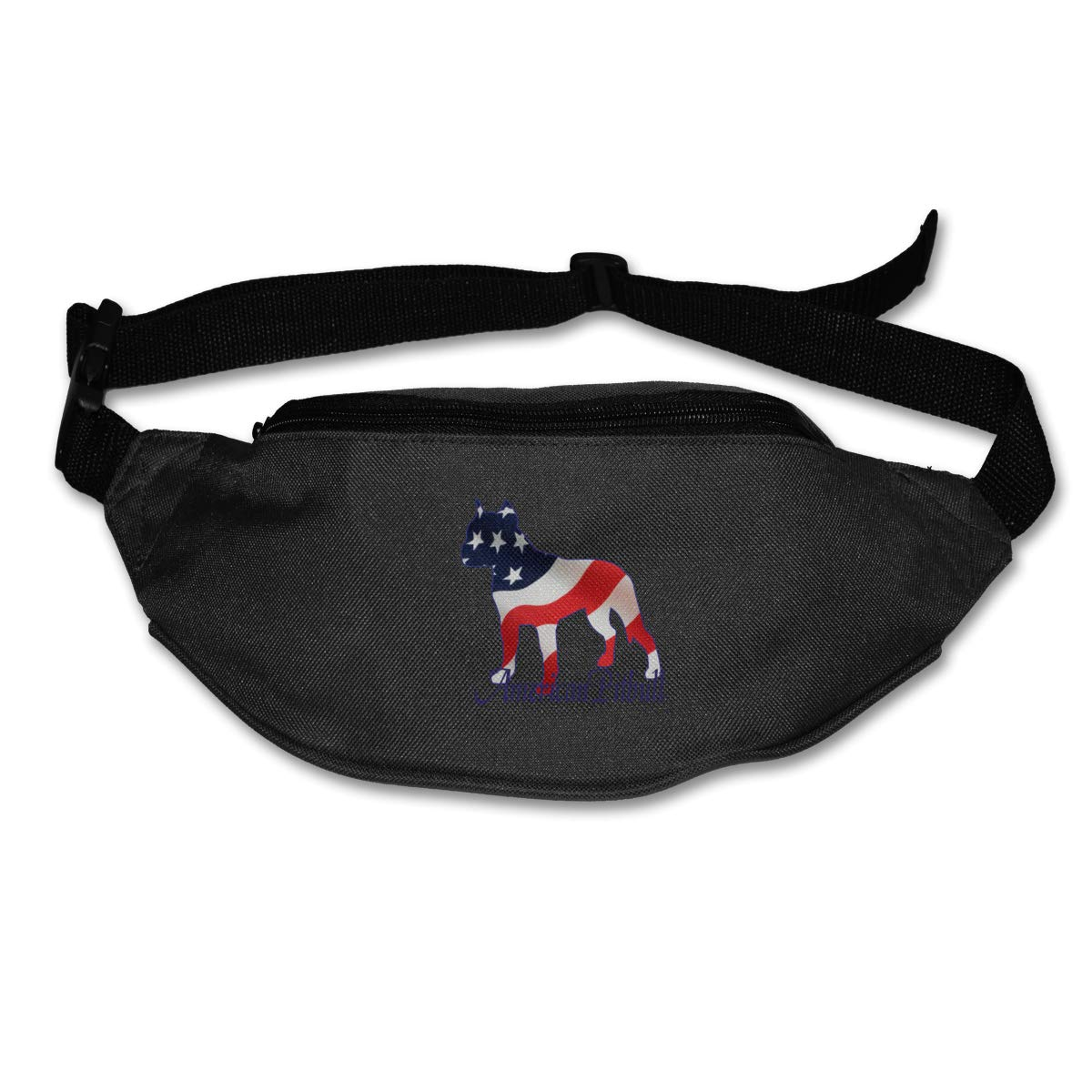 American Love Pitbull Sport Waist Bag Fanny Pack Adjustable For Run