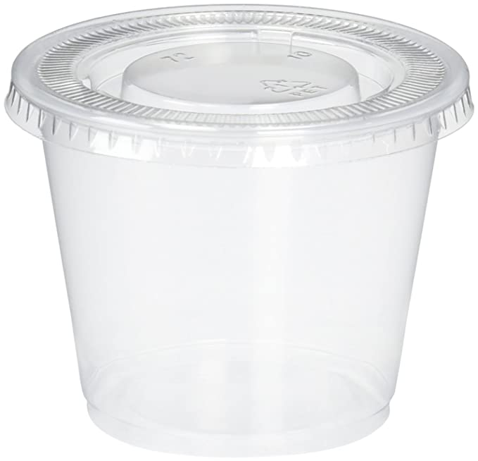 Reditainer - Plastic Disposable Portion Cups - The Souffle Cup (1 Ounce, Package of 100 Cups With Lids) by Reditainer: Amazon.es: Hogar