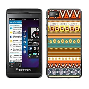 - Hipstr Nebula Aztec Tribal Pattern - - Monedero pared Design Premium cuero del tir¨®n magn¨¦tico delgado del caso de la cubierta pata de ca FOR Blackberry Z10 Funny House