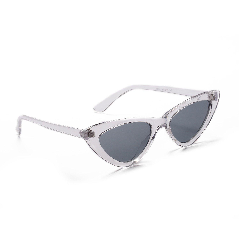 f2892f90e7d7c Amazon.com  YJZ Retro Narrow Cat Eye Sunglasses For Women Clout Goggles  Plastic Frame Universal