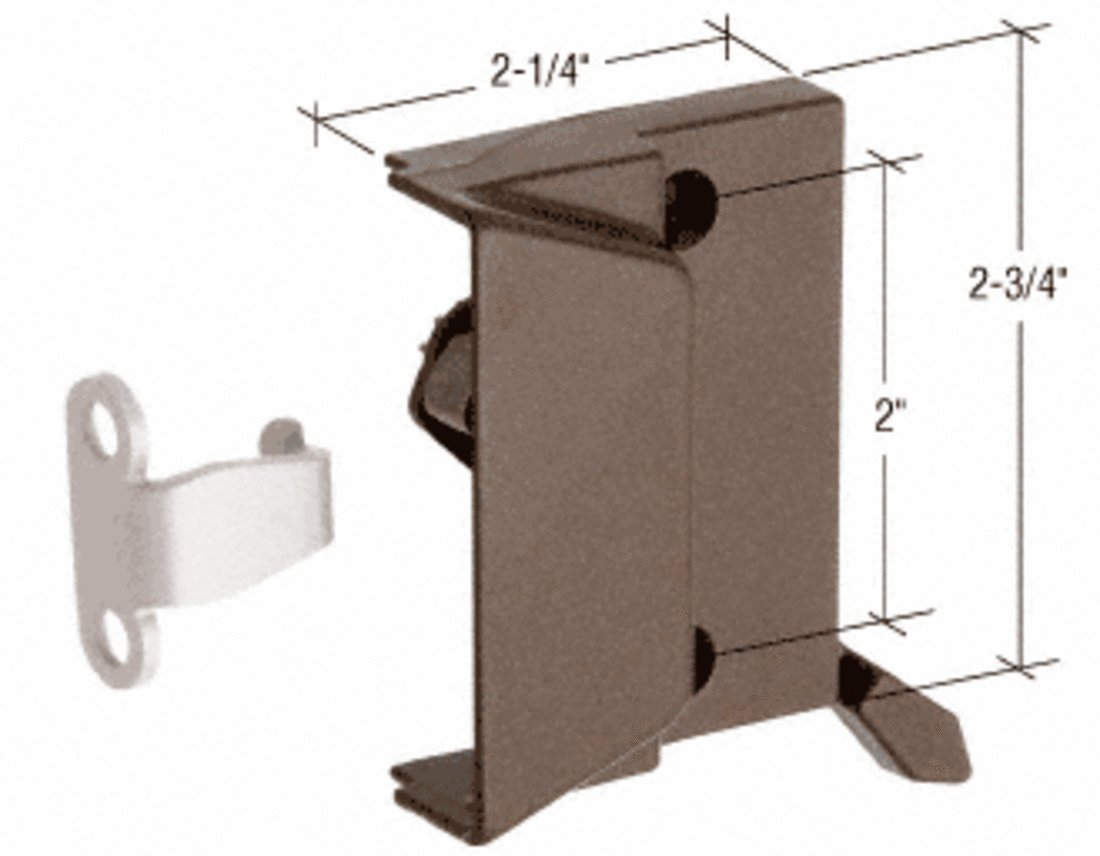 C.R. LAURENCE EP23053 CRL Bronze Window Sash Lock with 2'' Screw Holes