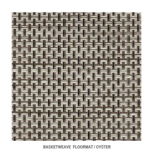"Chilewich Basketweave Floormat 23"" X 36"" Oyster"