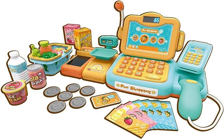 Foxom Caja Registradora Juguetes,Niños Supermercado Electrónica Cajero con Calculadora,Reconocimiento Automático de Voz Inteligente (Amarillo): Amazon.es: Juguetes y juegos