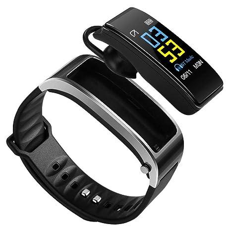 cineman Pulsera de Actividad Inteligente Reloj Deportivo de Podómetro Monitor de Ritmo Cardíaco Sueño Pulsera Cuenta