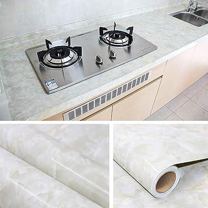 Amazon com: YENHOME Faux Jade Granite Countertops Peel and
