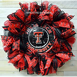 Texas Tech Wreath, Red Raiders Wreath, Sports Wreath, College Sports Wreath, 4015 1