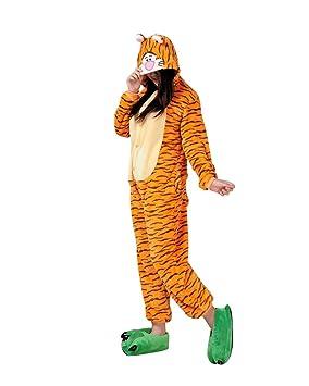 Keral Kigurumi Pijamas Adulto Anime Cosplay de Halloween Traje Outfit_Tiger_S