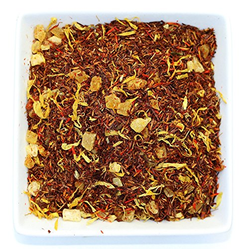 Tealyra - Mango 'n Friends - Rooibos Fruity Herbal Loose Leaf Tea Blend - Red Bush - Pineapple - Orange - Strawberry - Caffeine-Free - Vitamines Rich - Hot and Iced
