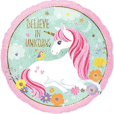 Mayflower Products Unicorn Party Supplies Believe in Unicorns 4th Birthday Balloon Bouquet Decorations: Toys & Games