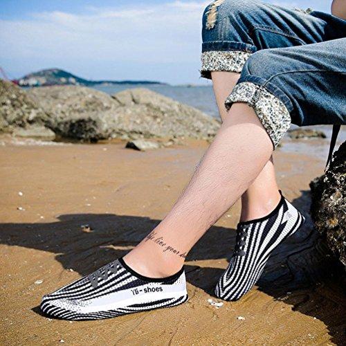 Un de Zapatillas Zapatos Secado ALIKEEY Solo Yoga Estampado Rápido Color Buceo natación de de Buceo 44 de con Deportivos de Zapatos de SISzqd