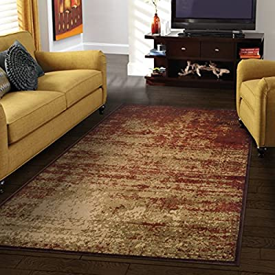"Superior Modern Afton Acid Wash Collection Area Rug, 10mm Pile Height with Jute Backing, Vintage Distressed Design, Anti-Static, Water-Repellent Rugs - Auburn, 2'7"" x 8' Runner - DURABLE, SOFT, and PLUSH. Woven and crafted with the highest quality 100% Polypropylene fibers for premium quality rugs which are soft and plush yet stand up to high traffic. These family-friendly rugs are easy to clean, making them perfect for high traffic and spill-prone areas including dining rooms, family rooms, hallways, foyers, playrooms, and children's bedrooms VERSATILE SIZE. The 2' 6"" x 8' Runner Area Rug size is perfect for hallways, entryways, behind the sofa, under a console table, or at the bedside. Pair this 30"" x 96"" runner with the other sizes available in the Afton Acid Wash collection to keep the pattern flowing throughout your home BEAUTIFUL DESIGN. Bring any room in your home to life with these great designs and patterns. Superior's area rug collection features a wide array of styles and designs, from traditional Oriental Rug designs to trendy distressed looks, bold contemporary patterns, and beautiful neutral florals - living-room-soft-furnishings, living-room, area-rugs - 61DIPCBlCYL. SS400  -"