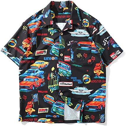 CSDM Camisa de Hombre Camisa de Hip Hop de Verano Vintage ...
