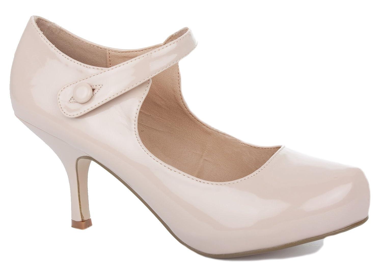 Womens Ladies Low Block Kitten Heel Smart Work Office Pumps Court Shoes Size 3-8