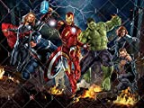 Avengers Background | Marvel Backdrop | Superhero | Birthday | For Boys | Party Supplies | Kids | Banner | Photography Decorations