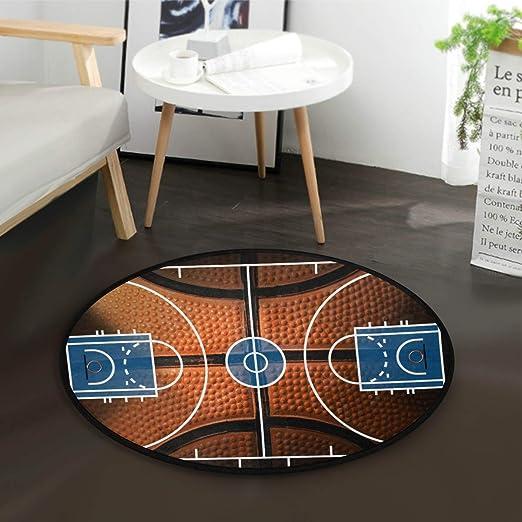 Mnsruu - Alfombra Redonda de Baloncesto Vintage para Sala de Estar ...