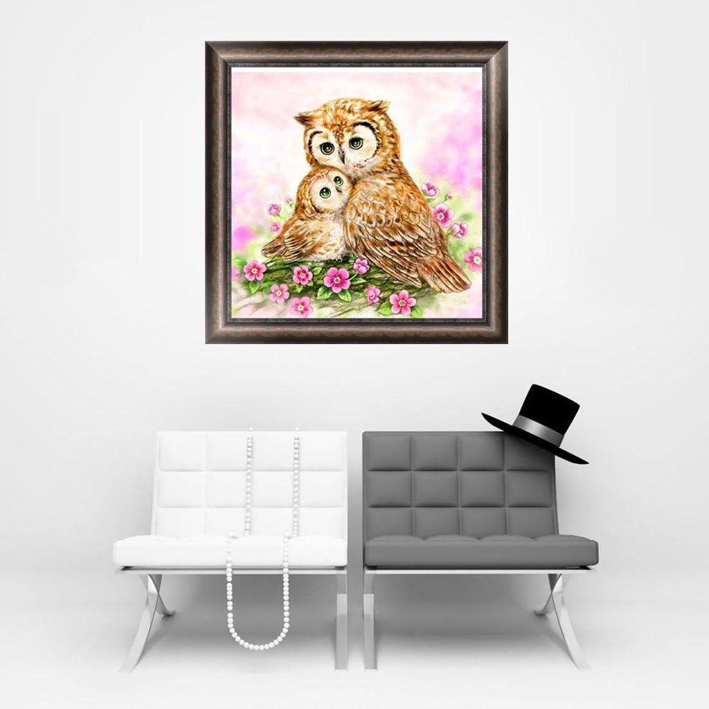 GaoCold 5D Diamond Painting Owl Animal Rhinestone Embroidery Cross Stitch DIY Home Decor