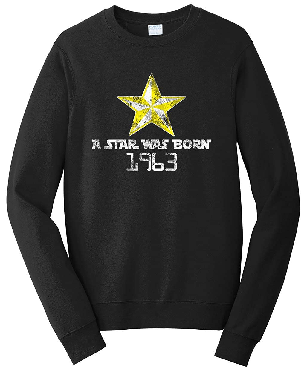 Tenacitee Unisex A Star was Born 1963 Sweatshirt
