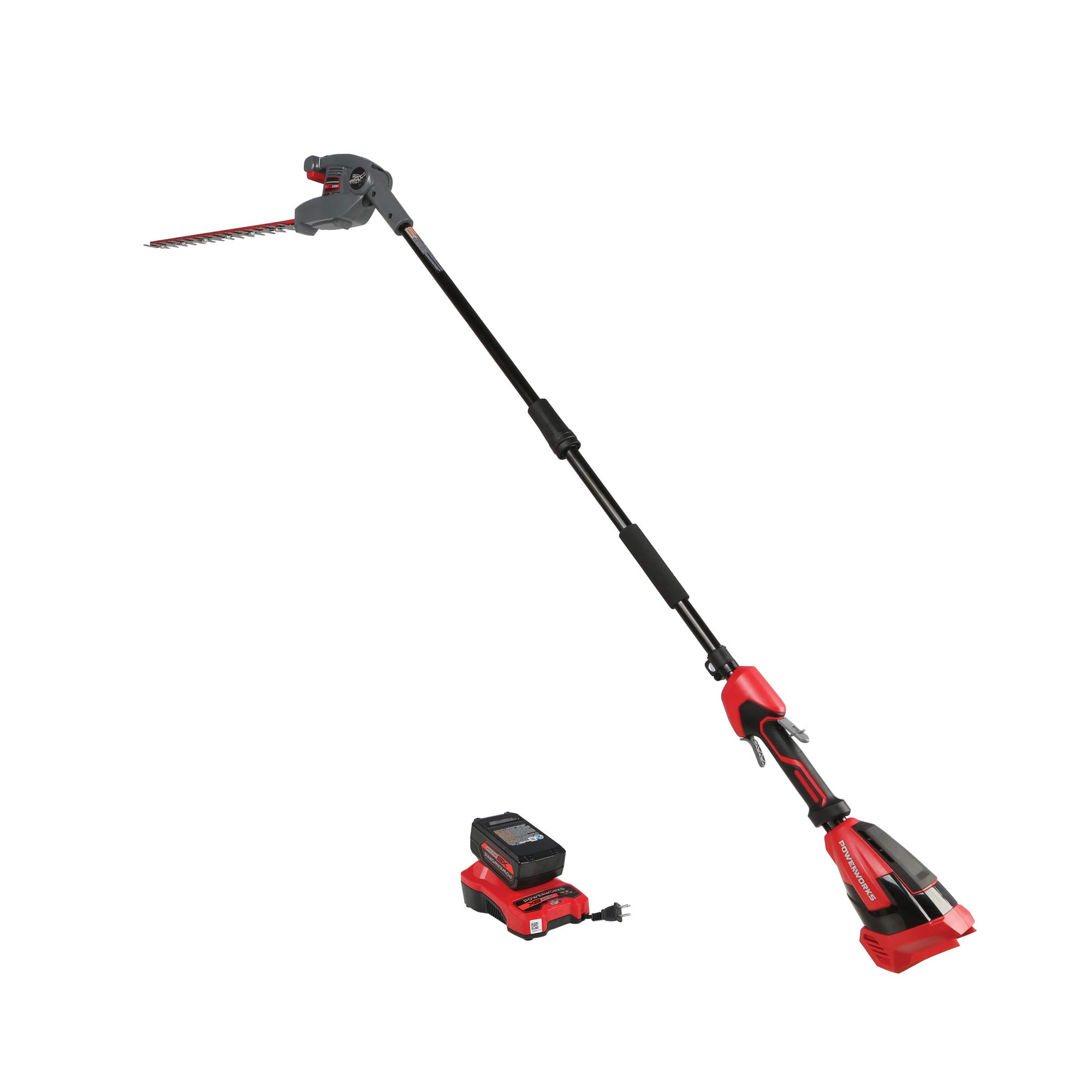 POWERWORKS XB 40V 20-Inch Cordless Pole Hedge Trimmer, 2Ah Battery and Charger Included PTP301