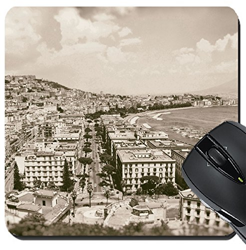 MSD Suqare Mousepad 8x8 Inch Mouse Pads/Mat design 24283476 Vintage best view of the gulf of Naples on old - View Gulf Square