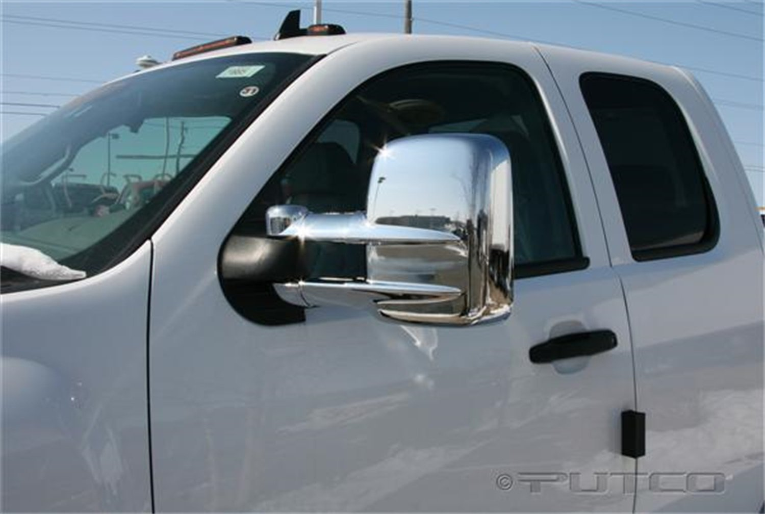 Amazon.com: Putco 401273 Chrome Mirror Overlay: Automotive