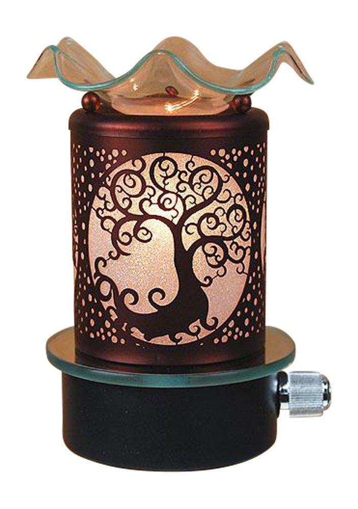 Tree of Life Electricガラスメタルプラグin No Cord Night Light Tart Burner Oil Warmer Night Light B07FXYBC41