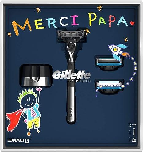Gillette Mach3 Set de Regalo Maquinilla y Soporte: Amazon.es ...