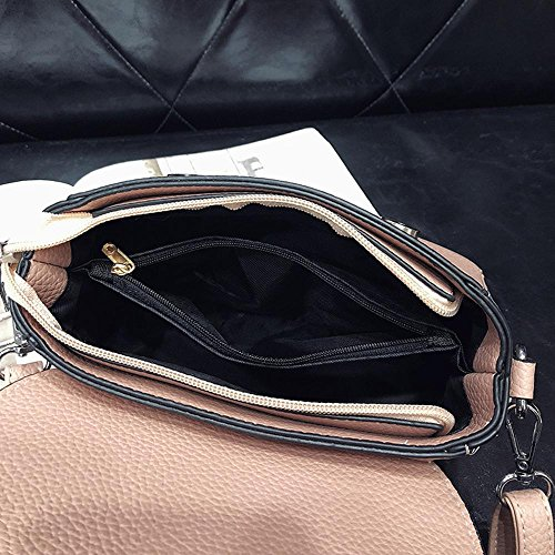 Aoligei Collision mobile couleur Simple sac femme flip couture grain de litchi sac femme croix oblique loisirs unique épaule L sac carré A