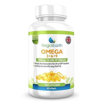 Omega 3 6 9 Aceite de Pescado Complejo 1.000 mg cápsulas de suplementos para los hombres