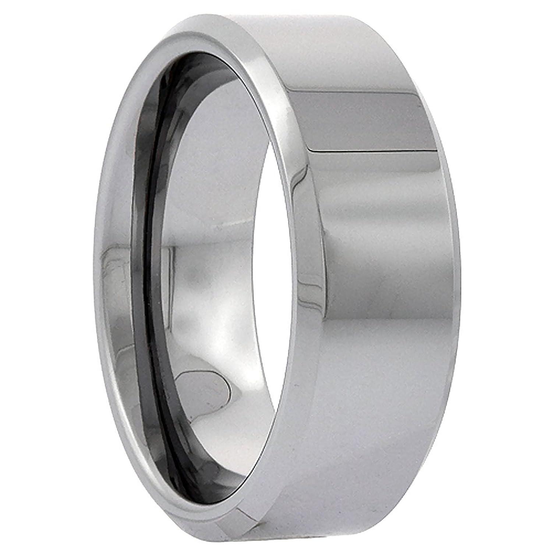 Tungsten Wedding Polish Beveled Comfort Image 3