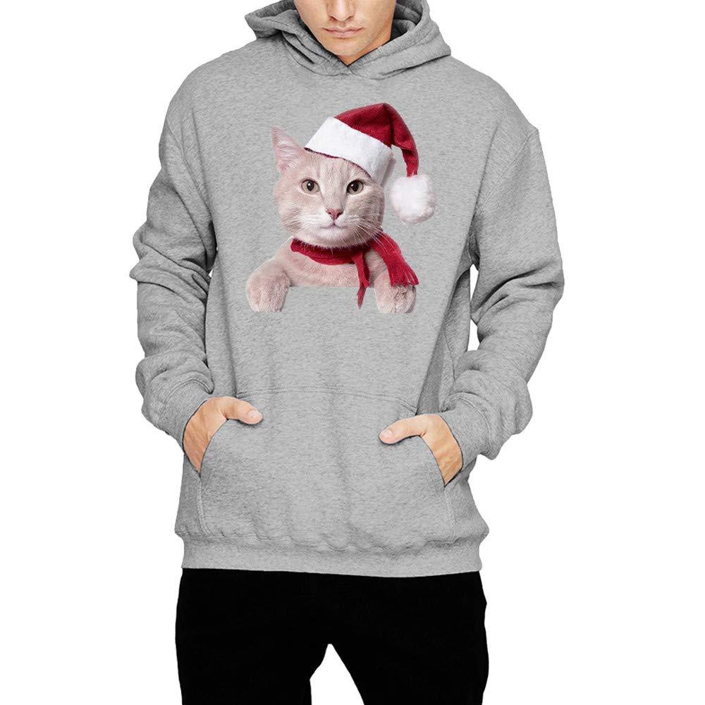 Hombre Mujer Invierno Navidad Gato Estampado Manga Larga Sudadera con Capucha Tops Blusa de Internet: Amazon.es: Ropa y accesorios