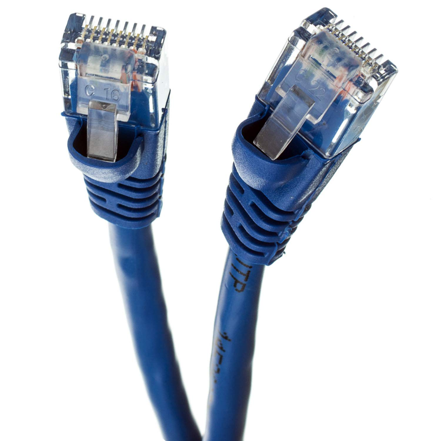 GOWOS 20-Pack Computer Network Cable with Snagless Connector UTP Available in 28 Lengths and 10 Colors 10 Feet - Blue RJ45 10Gbps High Speed LAN Internet Patch Cord Cat5e Ethernet Cable