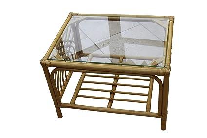 Admirable Garden Market Place Portofino Cane Coffee Table In A Natural Finish Tempered Glass 66 X51 X 46 Creativecarmelina Interior Chair Design Creativecarmelinacom