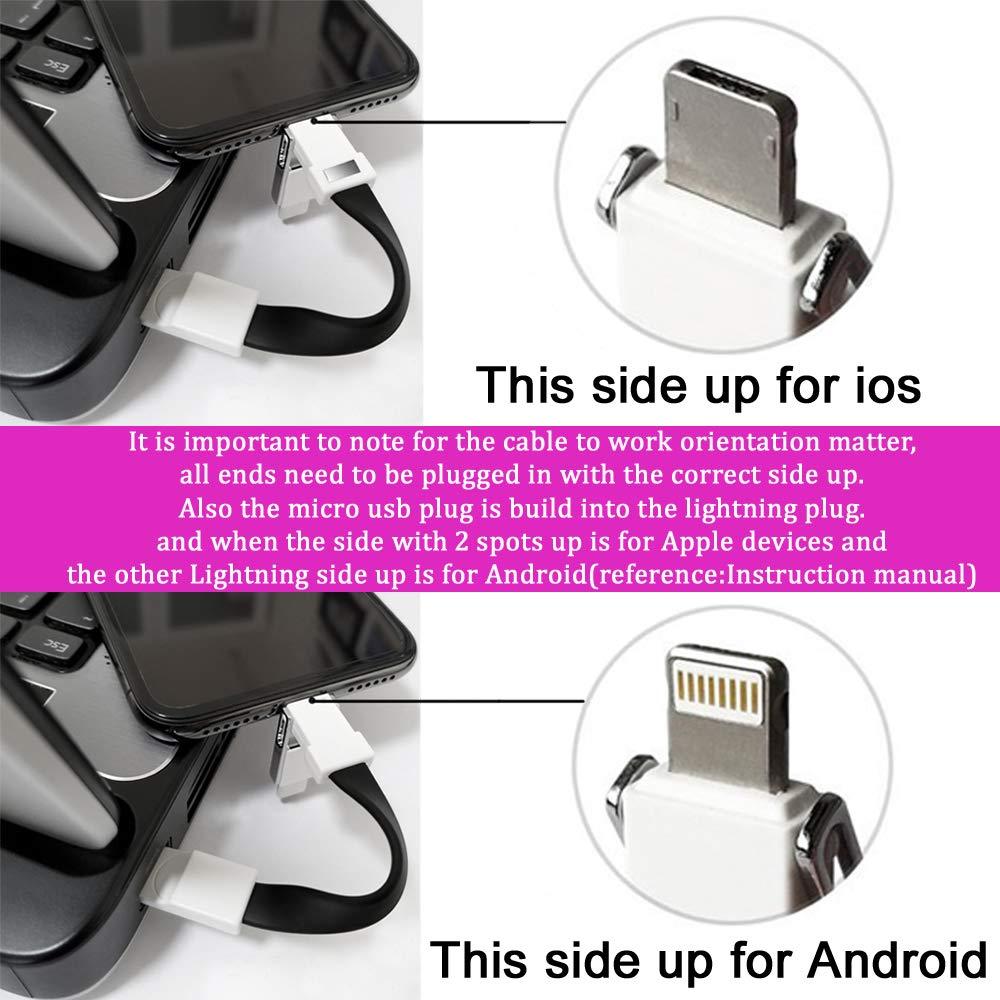 Amazon.com: Cargador de llavero, tipo C, micro USB, 3 en 1 ...