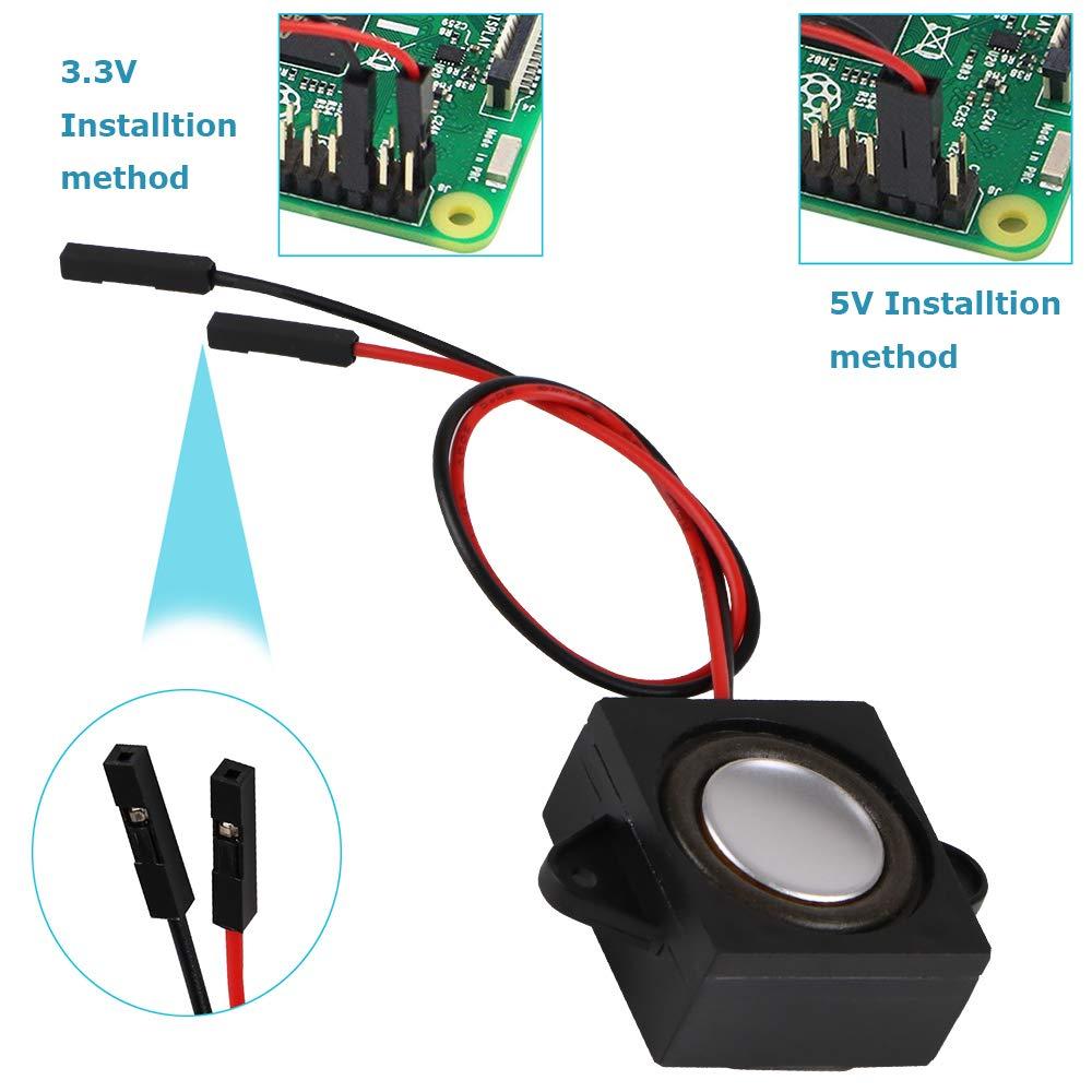 Innovateking-EU 2 unids Arduino Altavoz 3 vatios 8 Ohmios de una Sola cavidad Mini Altavoz port/átil de Rango Completo port/átil Conector Separando una o dos Fuentes 3.3V 5V