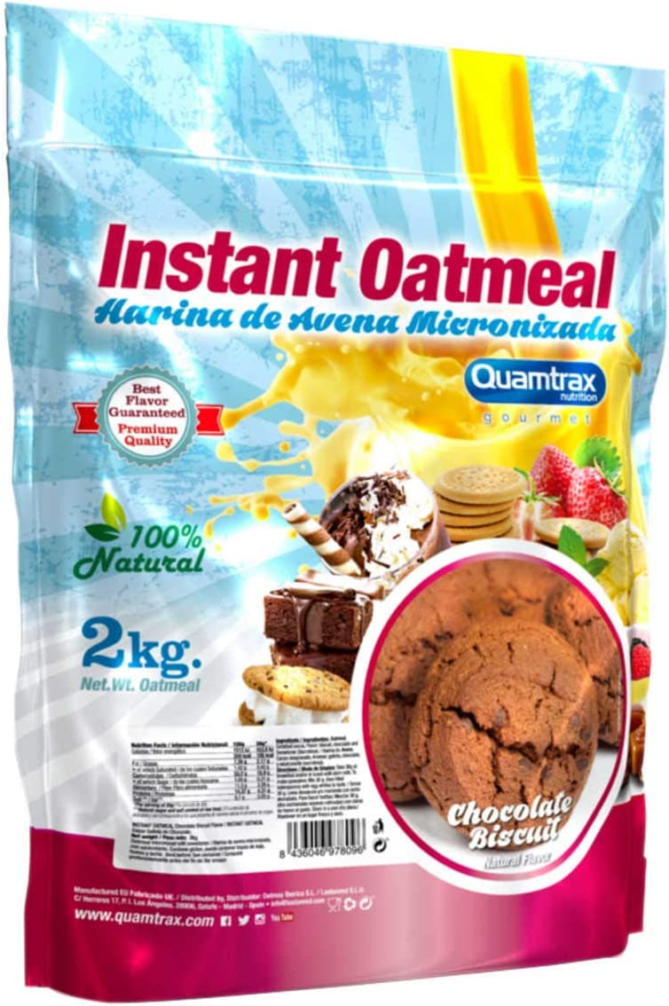 Quamtrax Instant Oatmeal - Harina de Avena 2 kg - chocolate ...