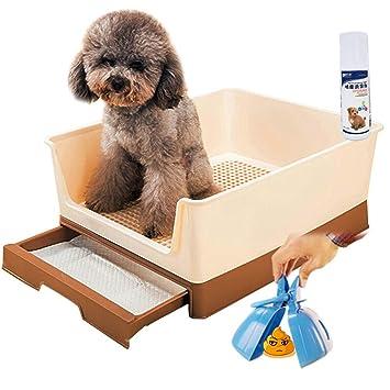 Yuan Productos para Mascotas Inodoro para Mascotas - Inodoro para Gatos Perro Mascota Inodoro para orinales Orinal/marrón Forros para Las Cajas de Arena ...